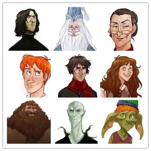 《哈利波特》人物头像集
